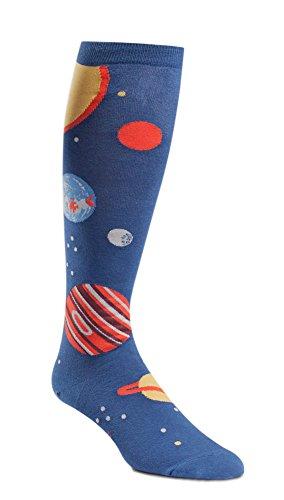 Wide Calf STRETCH-IT Knee High Planets Socks (Socks Calf Wide)
