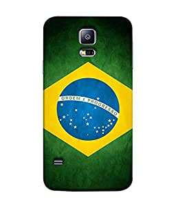 ColorKing Football Brazil 08 Multi Color shell case cover for Samsung S5