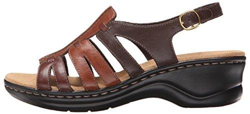Brown Leather Sandal Q A Multi Marigold Lexi 10 Clarks Narrow Women's UIq4ggw