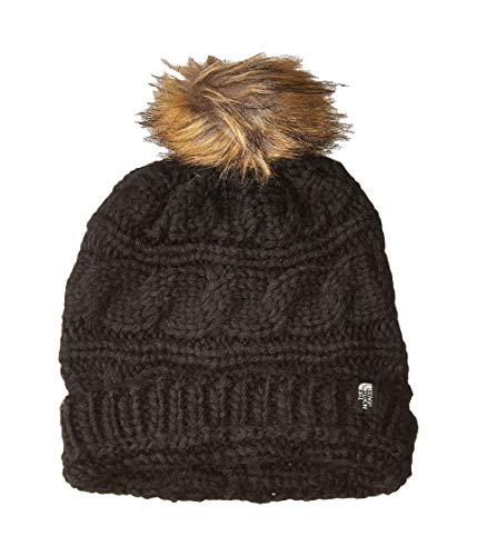 The North Face Women's Triple Cable Fur Pom TNF Black One Size
