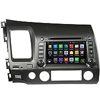 8 Android 6.0 Otca Quad Car GPS Navi Player Honda Left Driving CIVIC 2006 2007 2008 2009 2010 2011 With Car Stereo Radio WIFI Bluetooth Steering Wheel Control