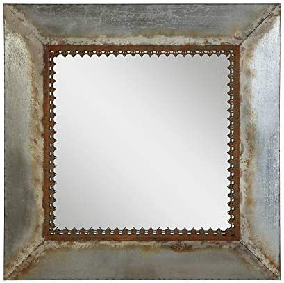Creative Co-op Square Metal Framed Mirror