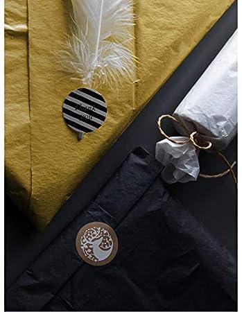 RUSPEPA Papel De Regalo Para Papel De Seda 50 X 70 CM Paquetes De Bolsas 25 Hojas Papel De Seda Con Estampado De Estrellas Doradas Para Manualidades De Bricolaje