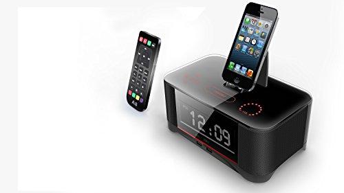 powerlead digital dual alarm fm clock with radio bluetooth. Black Bedroom Furniture Sets. Home Design Ideas