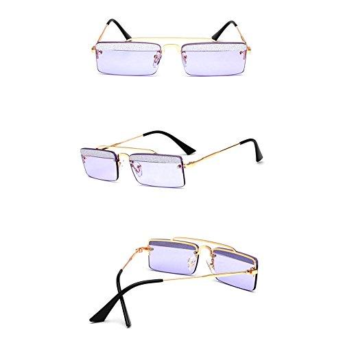 De amp;HA De Style Protection UV Soleil Z Femmes Sourcils Accessoires De Petit Vêtements Carré Cadre Lunettes De Purple Lunettes Marée Designer FtddZxUwq