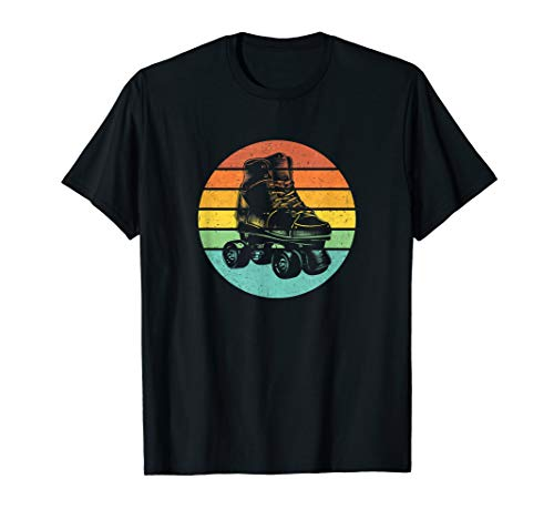 Roller Skate Vintage Style 70s and 80s Skating T-Shirt (Roller Skate Tee)