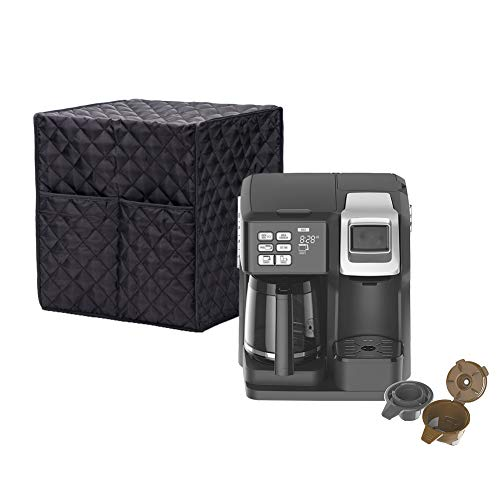 "Smart Coffee Maker Cover, Espresso Appliance Cover, Large Size Single-Serve Brewers Cover, 12.6""Lx12.2""Wx14.2""H, Diamond Collection Kitchen Appliance Case With Two Big Pockets,Provide Yeal Around Protection For Your Appliance"