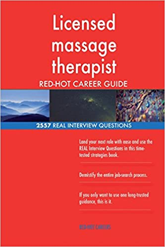 Licensed massage therapist RED-HOT Career Guide