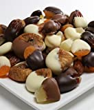 From You Flowers – Belgian Chocolate Covered Dried Fruits ( pineapples, apricots, dates and figs) – 1 LB