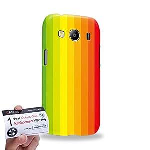 Case88 [Samsung Galaxy Ace 4 LTE G357] 3D impresa Carcasa/Funda dura para & Tarjeta de garantía - Art Hand Drawing Rainbow Flag
