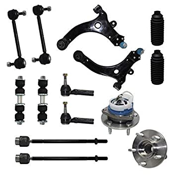 Detroit Axle - New Complete 14-Piece Front Suspension Kit - 10-Year  Warranty- Front: 2 Wheel Bearings, 2 Control Arms & Ball Joints, 4 Tie Rod  Ends, 4