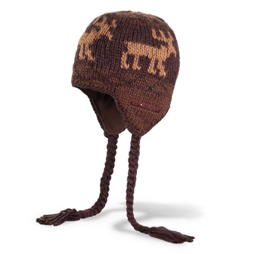 Dakine Men's Elko Fleece Lined Beanie with Tails (Brown, One Size)