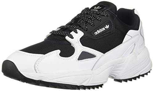 adidas Originals Women's Falcon Trail Running Shoe, Black/White/Night Metallic, 9 M US