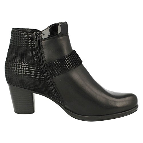 Print Boots Black Glint Remonte Ankle Casual Womens xwq8pPv6