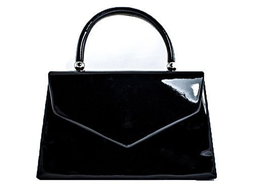 Party Hardcase Envelope Small Faux Leather Womens Clutch Ladies Handbag Evening Prom Patent Bridal AqZ8tX