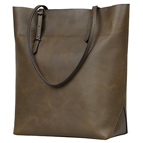 Jack&Chris Women's Leather Work Tote Vintage Handbags Shoulder Bag (Upgraded Version), YSZ112 (Coffee) by Jack&Chris