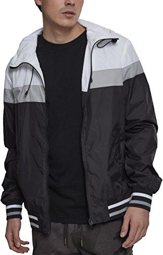 College black grey 00514 Cappotto Urban Classics Multicolore Uomo Windrunner white Bw5vRF