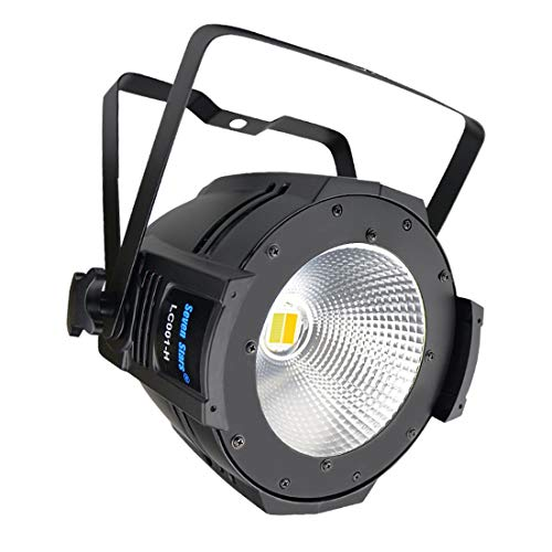 100W COB Warm and Cool White PAR Lighting,DJ Lights, DMX Stage Spotlight Sound Activated,Master-slave, Auto Running for DJ Disco Club Party Wedding Stage Effect Lighting
