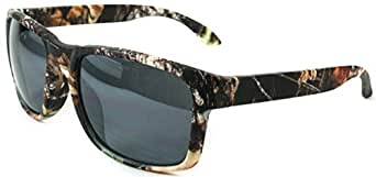 Camouflage Holbrook Camo Hunting Unique Style Men Women Sunglasses Eyewear Shades with Free Pouch (Dark Brn w/Black Lens)