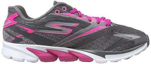 Zapatillas Para Correr Skechers Go Run 4 Para Mujer - Ss16 Charcoal / Hot Pink