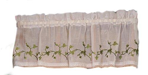 Curtain Chic Garden Path Valance, Ivy