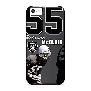 Bumper Hard Phone Cover For Iphone 5c (oOY17746wVCQ) Customized Lifelike Oakland Raiders Pattern