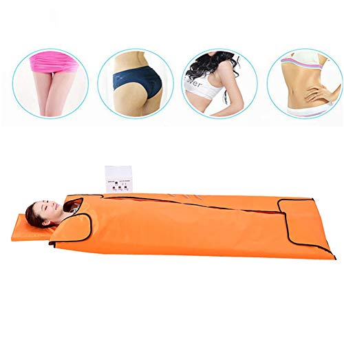 ZZYYZZ Heat Sauna Blanket,Far-Infrared Therapy Khan Steam Detoxification Beauty Pad,Suitable for Families,Orange