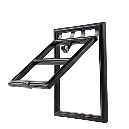 yIFeNG Pet Screen Door Dog Cat Flap With Magnetic Automatic Lock (Small, Black) by yIFeNG (Image #2)