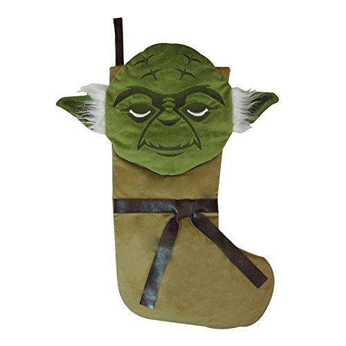 Disney Star Wars Yoda Large Christmas Stocking Gift Bag, Green