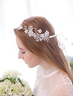 SFGVDSFSDF DHC* Casquettes pour Dames/Accessoires pour Cheveux de Mariage/New / Handmade/Perles d'eau Douce/Fleurs Crystal/Bride / Wedding Dress/Hairband