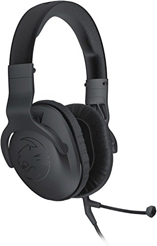 Roccat Cross Multi-Platform Compatible Gaming Headset with 3.5 Jack for PS4 (slim), XBOX One (S), Mobile, PSP, PC & Mac, Over Ear with Removable Dual Mic, Light Design (185g), Bass & Stereo Sound