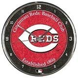 Cincinnati Reds Round Chrome Wall Clock