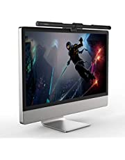 Computer Monitor Lamp, GlobaLink Auto-Dimming & Stepless-Dimming with Touch Control, LED USB Screen Monitor Light Bar, No Glare Screen E-Reading Desk Lamp, Home Office Lamp Suit 15''-22''Compute