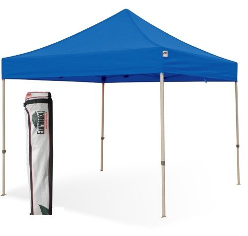 Eurmax 10 x 10 Pop up Canopy Commercial Tent Outdoor Party Shelter with 4 Zippered Sidealls and Carry Bag Bonus Canopy Sand Bags, Navy Blue