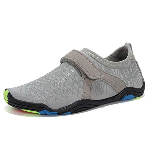 CIOR Boys & Girls Water Shoes Quick Drying Sports Aqua Athletic Sneakers Lightweight Sport Shoes(Toddler/Little Kid/Big Kid) DKSXM-Grey-30