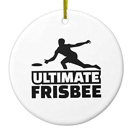 6cefb68ffca2f Amazon.com: Novelty Christmas Tree Decor Ultimate Frisbee Ceramic ...