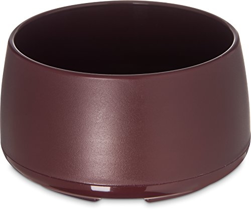 Dinex DX118561 Classic Stackable Insulated Bowls, 9 oz., 2.38'' Height, 3.75'' Width, 3.75'' Length, Urethane Foam, Cranberry (Pack of 48) by Dinex