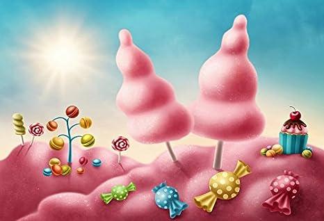 amazon com laeacco 7x5ft sweet cake smash backdrop dreamy candy