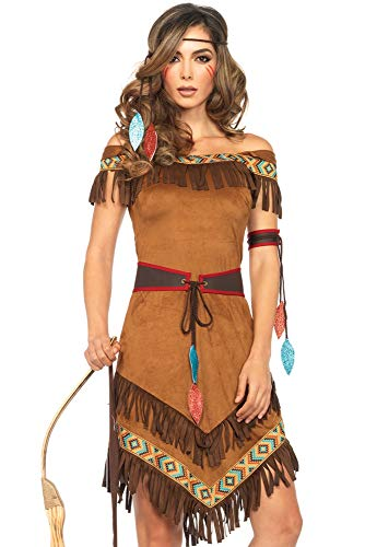 Simple Halloween Outfits Adults (Leg Avenue Women's Native Princess, Brown,)