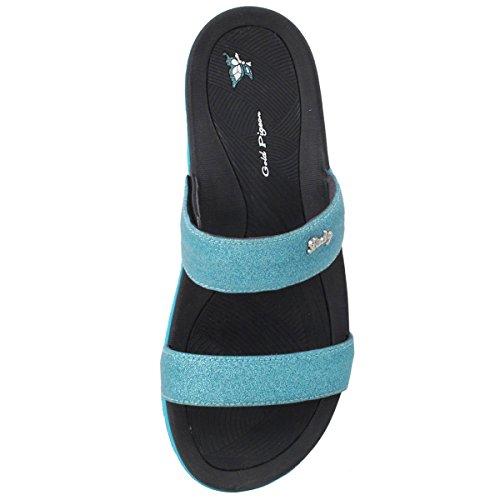 Lt Slide Adjustable Double Comfort 8538 Sandals GP6875 Blue Strap nq0Ba7gI