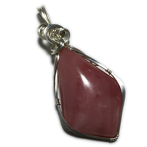Opal Pendant, Pink Peruvian OPAL PENDANT Sterling Silver Argentium necklace ()