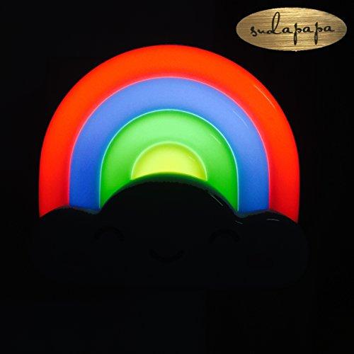Sudapapa Mini Rainbow LED Night Light Lamp with Voice and Light Sensor (Tpye 1)