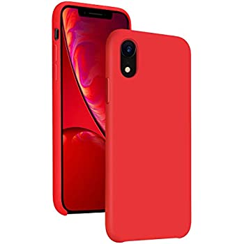 sports shoes ab29c ba7a4 Diaclara Silicone iPhone XR Case Red, 6.1'' iPhone 10R Cases Hybrid Gel  Rubber Slim Classic Bumper Shockproof Drop Protective Cover for Apple  iPhone ...