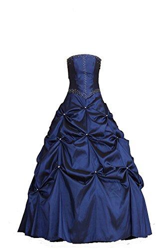 Bonnie clothing Women's Ball Gown Ruffles Beaded Taffeta Prom Dresses (US 16)