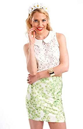 Hipster Green Chiffon Body Con Skirt For Women