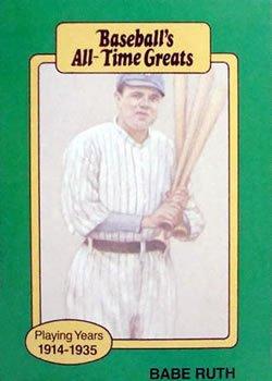 Babe Ruth 1987 Baseball All Time Greats Baseball Card At
