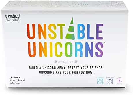 Unstable Unicorns Card Game - A Strategic Card Game & Party Game for Adults & Teens (2ND Edition with New Cards!)