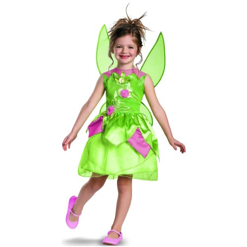 Child Tinkerbell Fairy Princess Costumes - Disney Fairies Tinker Bell Classic Girls Costume, 4-6X