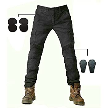 Amazon.com: Motorcycle Biker Jeans Motocross Racing Trousers ...