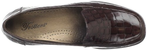 Trotters Mujeres Jenn Croco Loafer Marrón Oscuro Croco